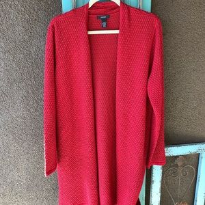 Long sleeve red cardigan alfani xl